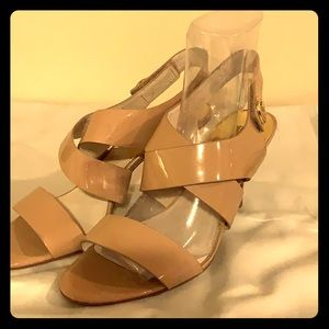 Micheal kors patent nude heels size 10